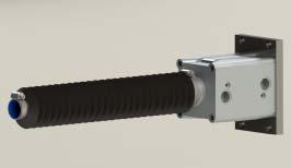 Proteção sanfonada para cilindros