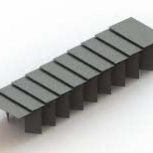 Proteção sanfonada para guia linear